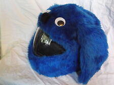 MOTORBIKE FUNNY HEEDS CRAZY CRASH HELMET COVERS  MOTORCYCLE  COVER BLUE DOG