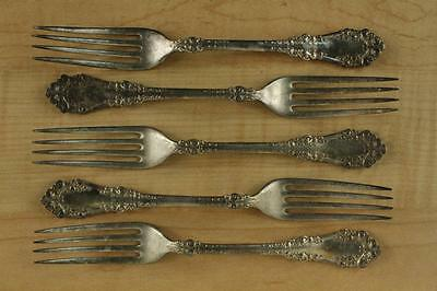 Vintage 1847 ROGERS Bros Silverplate Flatware BERKSHIRE 1897 Dinner Fork 5PCS