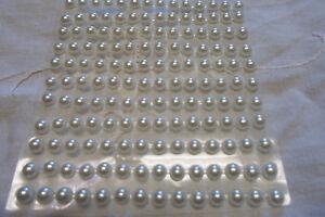 * 250* Perle Perline Mm 5 X Adesive X Decorare Abbellimenti Lavori Creativi Pratique Pour Cuire