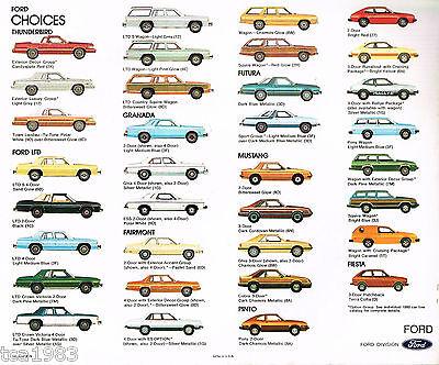 THUNDERBIRD,MUSTANG,LTD,PINTO,GRANADA,FIESTA,FAIRMONT, 1980 FORD Brochure