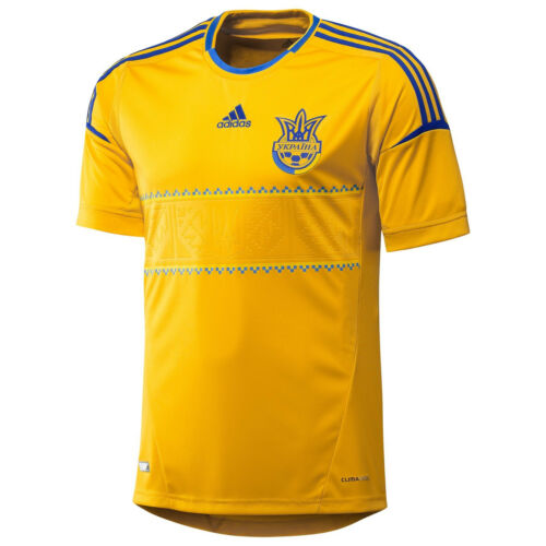 adidas Ukraine Euro 2012 Official Home Soccer Jersey Brand New Yellow