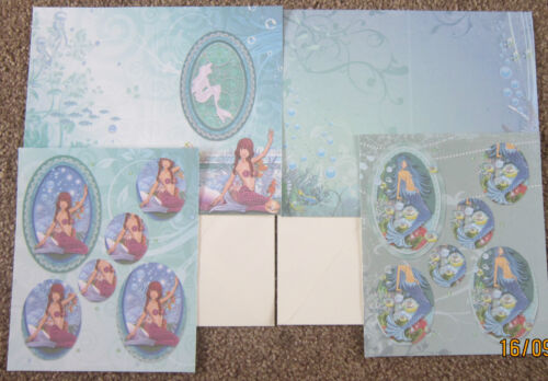 CREATE and CRAFT Decoupage Pack 2 Designs MERMAID KIT No.6 Encapsulated Glitter