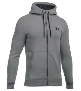 7554be7ad6 Details about Under Armour Men's True Gray UA Threadborne Fleece Full Zip  Hoodie