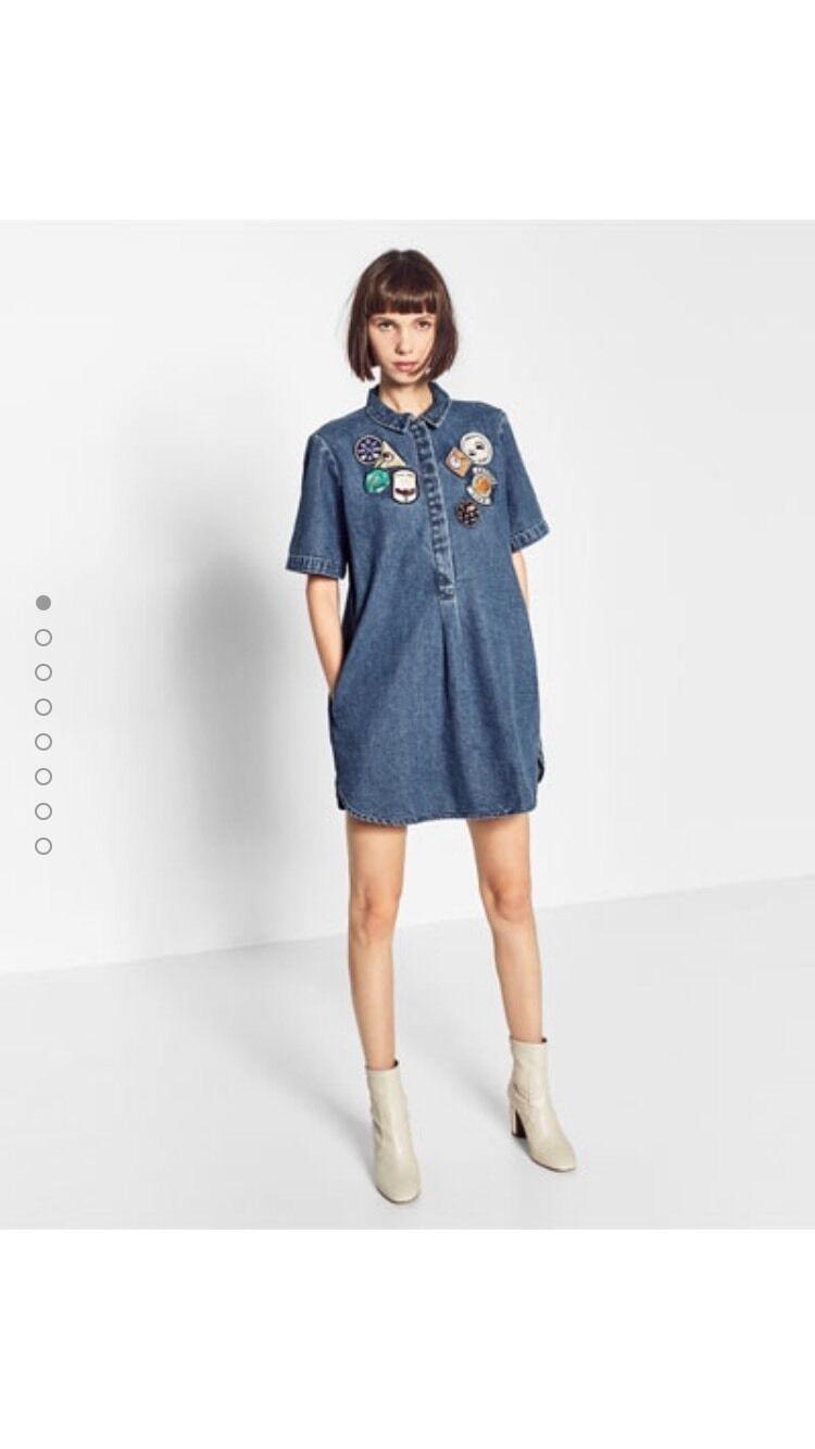 Zara Patch Jeanskleid Ausverkauft Größe L