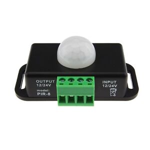 DC 12V-24V 8A Automatic Infrared PIR Motion Sensor Timer Switch For LED light