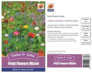 Ree-Feld-Blumen-Gemischte-Streuung-Samen-Schnell-Leichter-Wachsen-Blumen-Samen