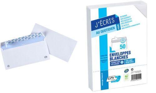 110 x 220 mm DL ohne Fenster weiß GPV Briefumschläge