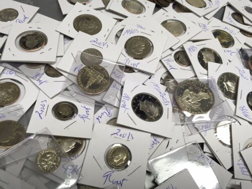 LOT 50 GEM PROOF US COINS $9.00 FACE+1c through $+DCAM+STATE+SILVER+1950s#/%33