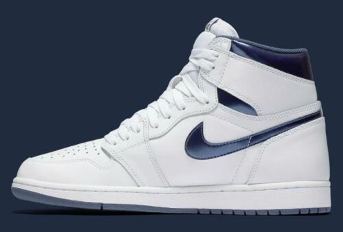 Blanco Og Retro Air Met Jordan 1 Nike High XUfFYY