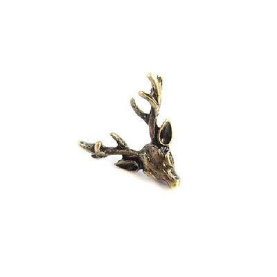vintage retro style deer / reindeer brooch bag pin multiple colours