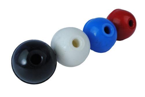 s7404 Ensemble Proops x 4 boules bleus en plastique Boutons Machine poignées 40mm dia 8mm