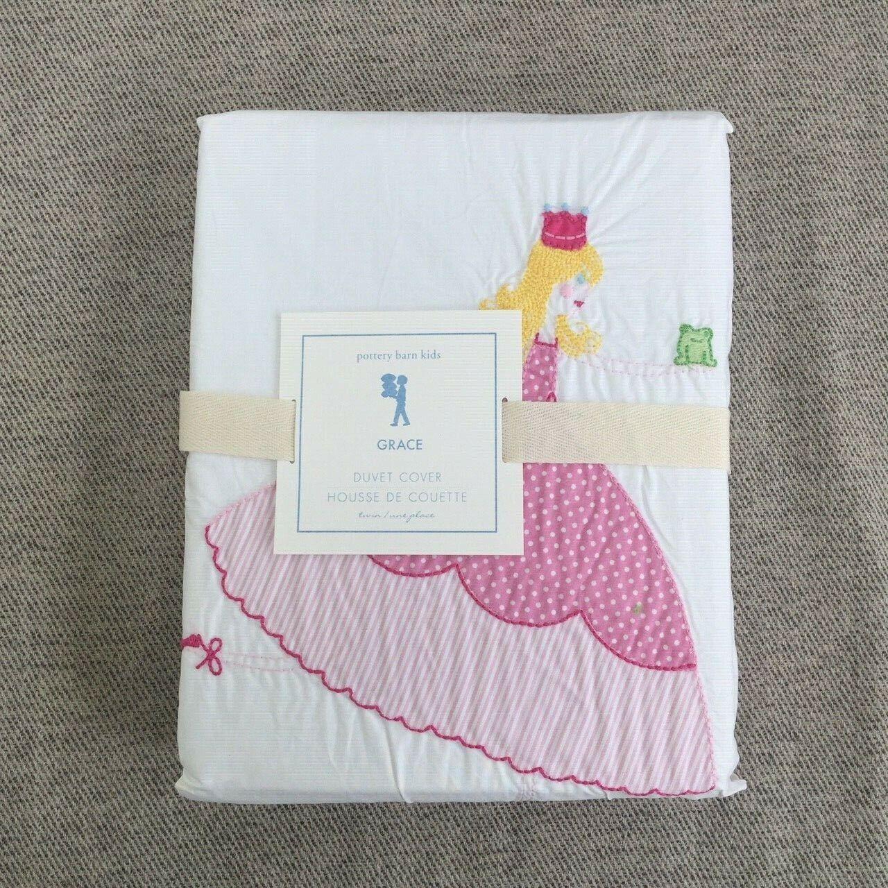 Pottery Barn Kids Twin Duvet Comforter Duvet Cover Pink White Gingham Cotton For Sale Online Ebay
