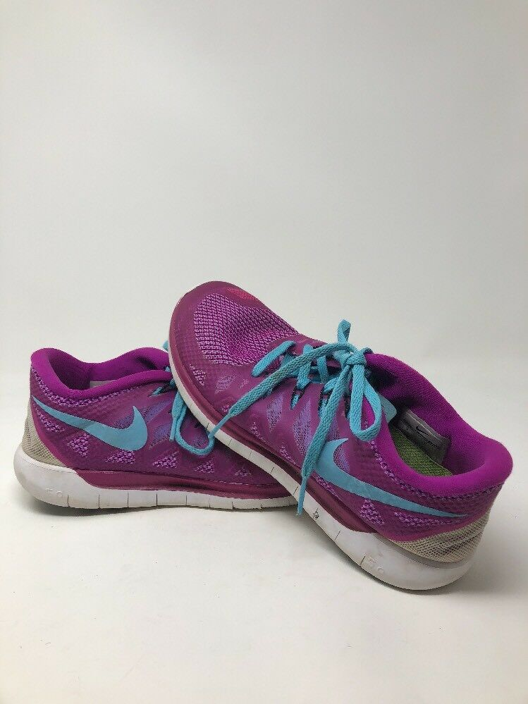 Nike Free 5.0 Womens Size Running Walking Athletic Shoes Size Womens 10 Purple and Teal beb0db