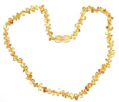 Genuine Baltic amber baby necklace, lemon honey chips shape beads 33 cm/13 inch