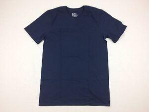 NEW-Nike-Navy-Cotton-Short-Sleeve-Shirt-Multiple-Sizes
