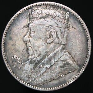 1896-South-Africa-1-chelin-039-grabado-039-039-trinchera-Arte-039-Plata-KM-monedas