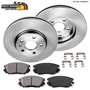 2010 2011 For GMC Terrain Front Brake Rotors and Ceramic Pads w//321mm Rotors