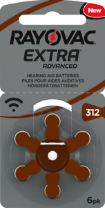 NEW-2018-Rayovac-Extra-034-Active-Core-034-Hearing-Aid-Batteries-Size-312-Brown