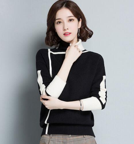 new Autumn winter Korean fashion elegant trend High collar Knitting sweater coat