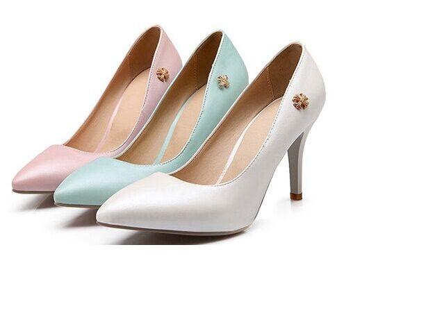 Chaussures Escarpin femme talon stiletto 8.5 cm prévaloir dans 3 couleurs 8435