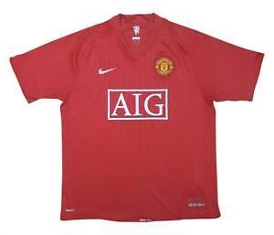 Manchester United 2007-09 ORIGINALE Maglietta (bene) L soccer jersey