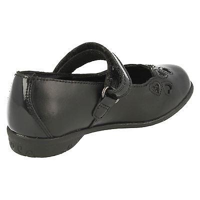 Clarks ' Orra Mimi' niña Negro Elegante Zapatos De Piel Para Colegio g Fit