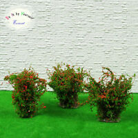 4 Dollhouse Window Box Layout Scenery Landscape Model Ground Cover Flower Red