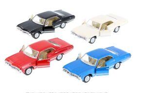 Kinsmart-1967-Chevrolet-Impala-1-43-Scale-Diecast-Model-Toy-Car-5-034-Red-Black-BL