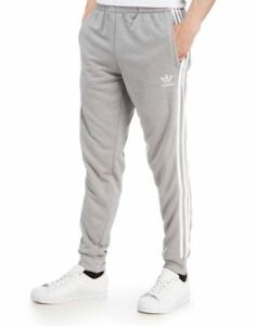 new concept 43e67 c161f Details about MENS ADIDAS SUPERSTAR CLASSIC 3 STRIPE BOTTOMS JOGGERS  S-M-L-XL PRICE £26
