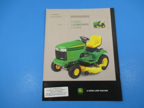 Original John Deere Sales Brochure LX Series Lawn Tractors LX280 LX280AWS  M1353