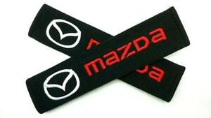1 Pair//set Car Seat Belt Shoulder Pads Embroidery Strap Covers Cushion for Mazda