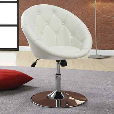 Miraculous Contemporary Round Tufted Faux White Leather Adjustable Swivel Chair Pub Stools Ebay Squirreltailoven Fun Painted Chair Ideas Images Squirreltailovenorg
