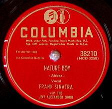 "FRANK SINATRA ""NATURE BOY"" & ""S'POSIN'"" - 78 rpm COLUMBIA"