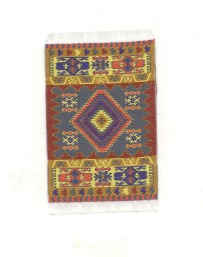 Rug  #12S dollhouse woven carpet flooring miniature 1pc 1//12 scale made Turkey