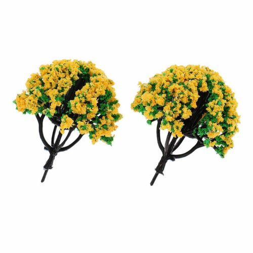 Buy 3 Save $5 Set of 2 Miniature Fairy Garden Gold Trees//Shrubs