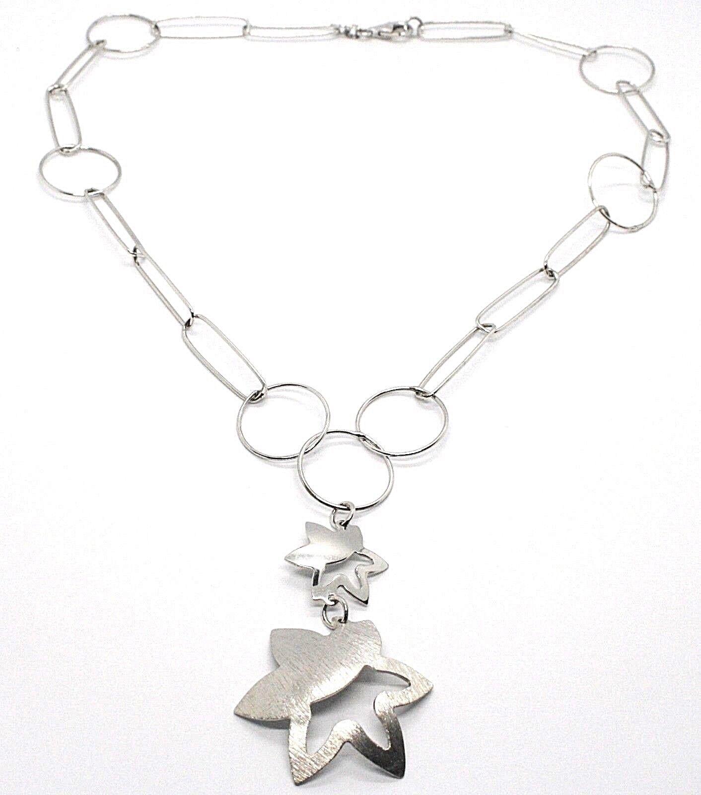 Collier en silver 925, Chaîne Cercles, Double Fleur, Soleil Pendentifs, Satinés