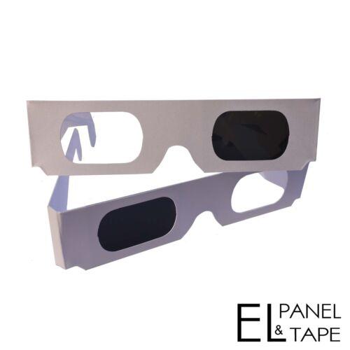 Pulfrich effect Pulfrich 3D Glasses White Cardboard