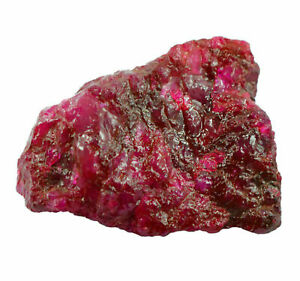 Exclusive 401 Ct Natural Certified Real Corundum Red Ruby Rough Gemstone