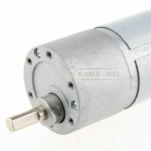 37mm 12V DC 500RPM Replacement Torque Gear Box Motor New