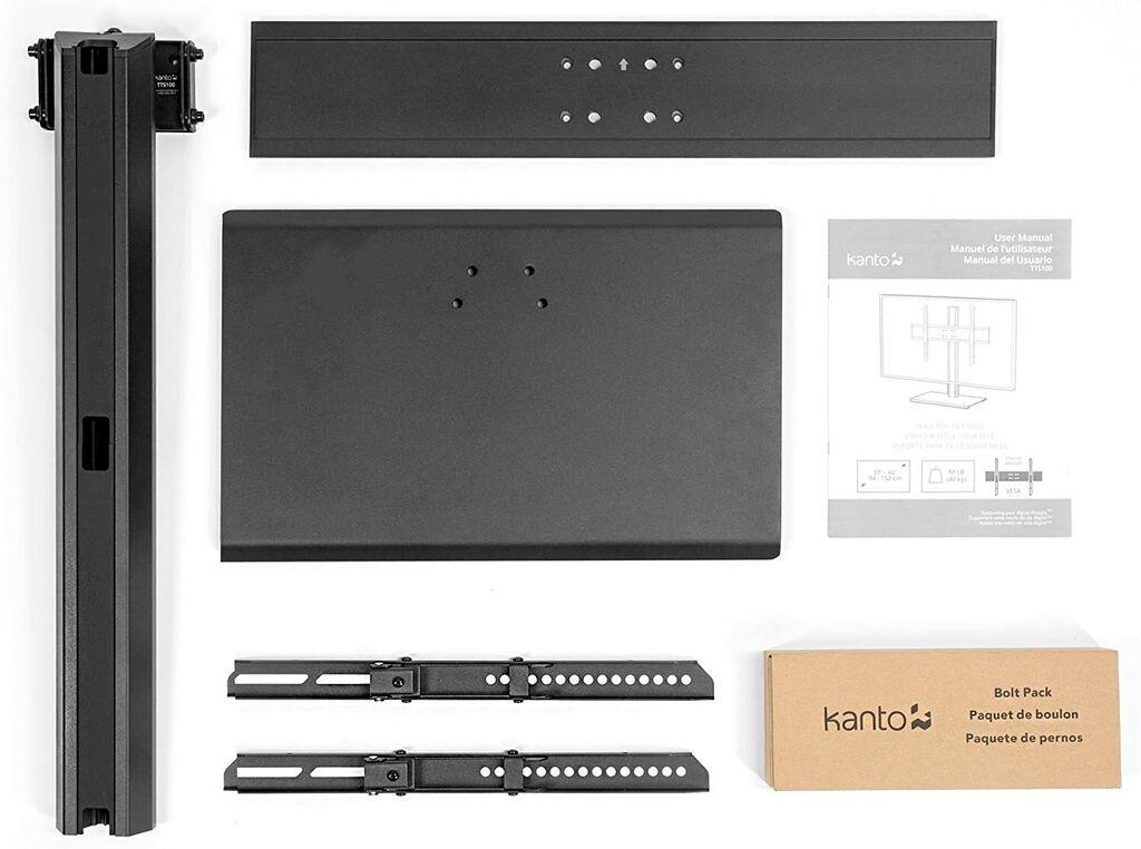 "Kanto TTS100 Tabletop TV Stand for 37"" - 60"" Flat Panel TVs | Ebay"