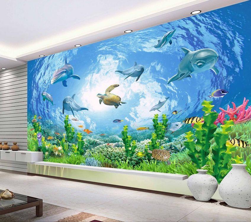 3D Shiny Océan 72 Photo Papier Peint en Autocollant Murale Plafond Chambre Art