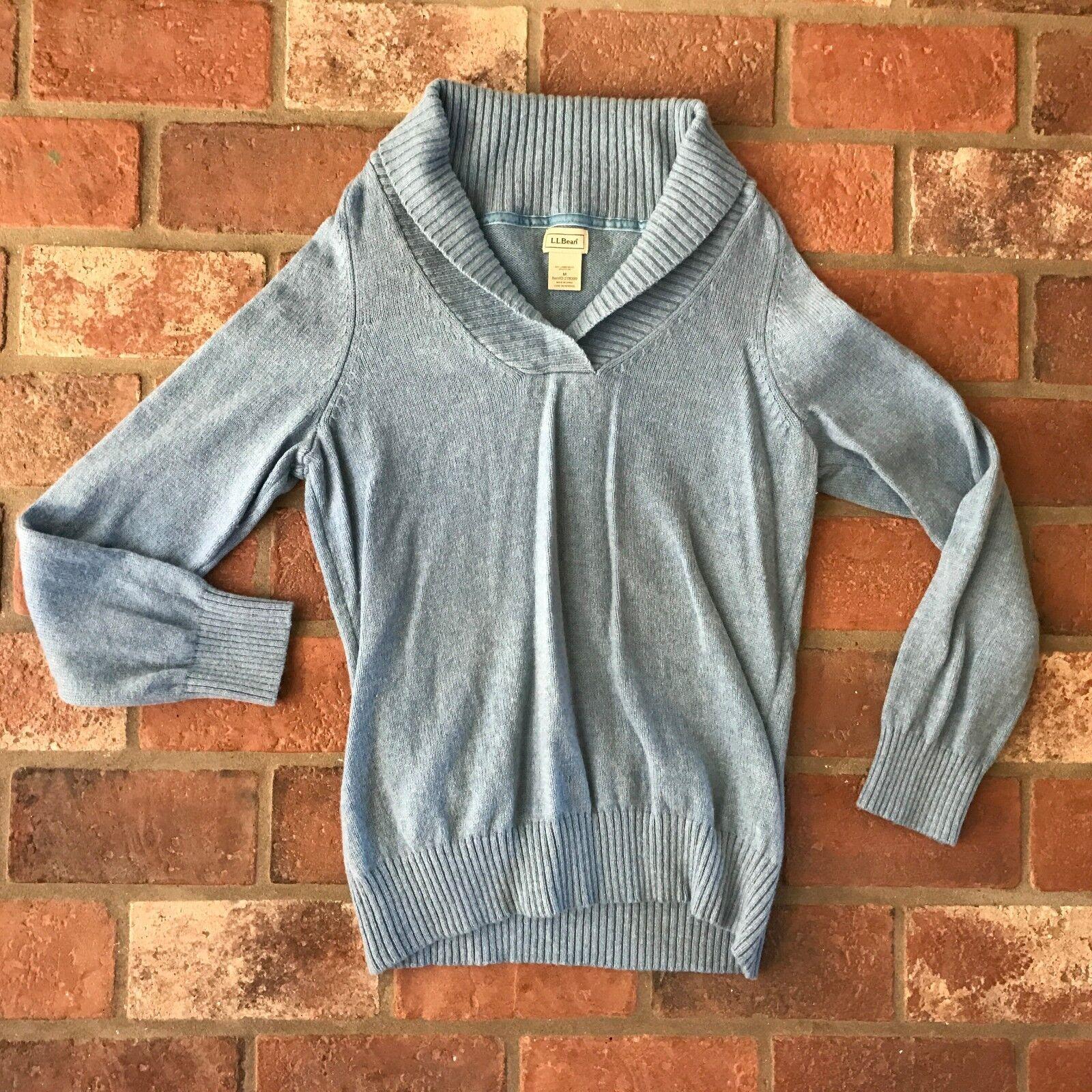 L.L. Bean Women's Size M Wool Blend bluee Sweater