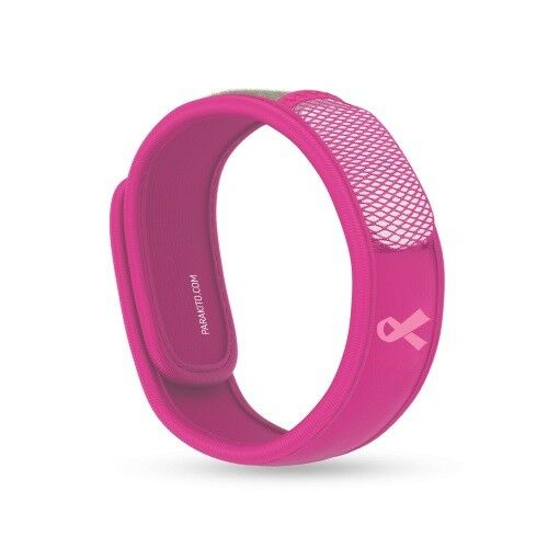 PARA'KITO MOSQUITO BAND PINK - Refillable Neoprene Mozzie Protection for 15 Days