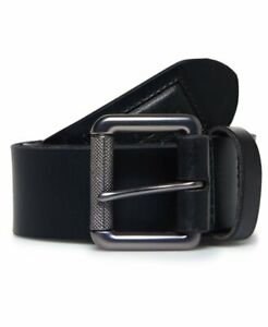 Details zu Superdry Black Leather Badgeman Belt M9200005A 02A