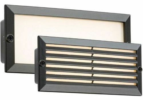 Knightsbridge LED bricklight Outdoor Mattone Bianco Nero Fascia Grill 835