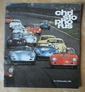 PORSCHE CHRISTOPHORUS orig Factory Issued Magazine Brochure - Issue 156 1981