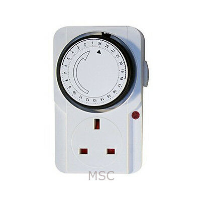 Eurosonic Programmable Timer Switch Plug 24 Hour 7 day ES107