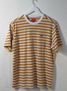 82a4b40928 Supreme Original Multi Stripe Terry T Shirt Tee White Size Large Box ...