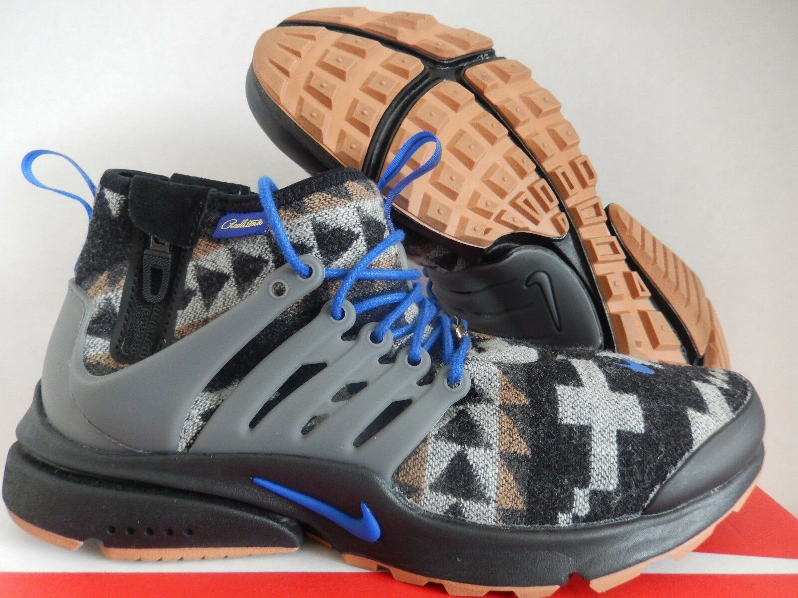 NIKE AIR PRESTO PENDLETON ID BLACK-BROWN-GUM BROWN SZ 9 [916580-991]