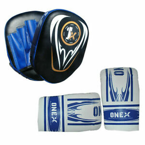 Boxing-Fight-Punch-Gloves-And-Focus-Pad-Set-Junior-Punching-Kicking-Palm-Boxing